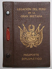 !!! diplomatici pass Perù Londra 1942 diplomatic Passport Embassy of Perù in the UK