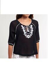 New Superdry women's  Folk blouse/fashion top black/holidays