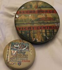 2 anciennes boite bonbons et sucre d'orge Vichy
