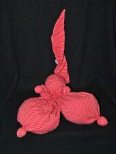 Peluche doudou poupée poupon TY GLAZ rouge rayé 26 cm + bonnet NEUF
