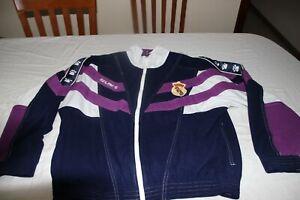 Oberteil Von Trainingsanzug Vintage Offizielle Real Madrid Marke Kelme Größe S