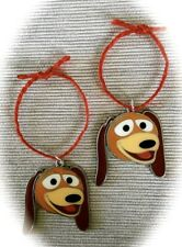 """Disney's TOY STORY """" Slinky Dog """" Set of 2 Metal Mini Ornaments New in Package"""