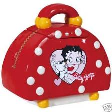 Betty Boop Red Handbag Polka Dot High Gloss Ceramic Cookie jar #24053 New