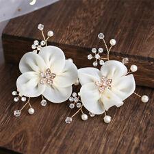 2pc Shoe Clip Floral Pearl DIY Women Sandals Charms Flower Clips Shoes Buckle YD