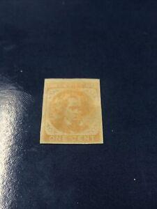 US Scott #CSA 14 Confederate Stamp 1 Cent Yellow UNUSED - VF / OG
