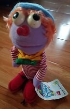 Vintage 1983 Dakin Romper Room Striped Clown Plush Doll Nice With Tag!