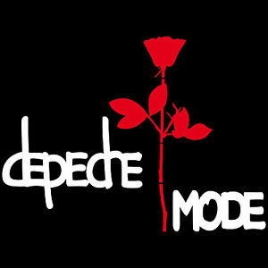 Depeche Mode 80cm Exciter Lettering + Rose 50cm Sticker Car Tattoo Foil