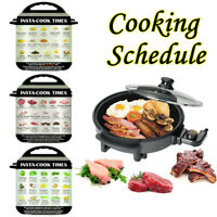 3pcs Electric Pressure Cooker Food Cooking Schedule Magnetic Sheet Stickers