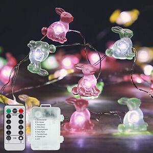 300cm Bunny String Lights Rabbit LED Fairy Lamps Easter Party Home Decor DIY Art