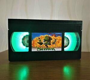 Shrek Disney VHS Night Light, Bed Light, Desk Light, Cartoon, Kids, Gift, TV