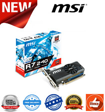 MSI RADEON R7 240 64B LP Graphics Card 2GB DDR3 600 MHz VGA HDMI DVI-D