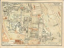 Carta geografica antica ROMA COLLE PALATINO TCI 1925 Old Antique map Rome