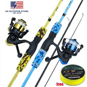 Baitcasting Spinning Rod Sougayilang 3 Sections 1.7m Fishing Rod Combo 3BB Reel