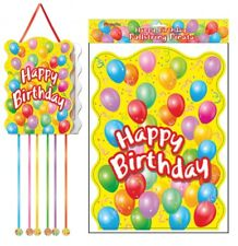 Happy Birthday pullstring Pinata - 40cm x 30cm-Loot/party game giocattolo bambini Hang