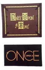 """Once Upon a Time TV Series Logo 4"""" Embroidered Patch Set of 2-FREE S&H(OTPA-1-2)"""
