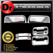 04-08 Ford F150 Chrome Top Half Mirror+2 Door Handle+keypad+no PSG keyhole Cover