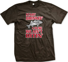 Start Drinkin' Cause We Ain't Bitin' Fish Not Catching Bass Trout Men's T-Shirt