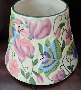 Yankee Candle Ceramic Shade Topper Flowers Butterflies Spring Summer Large Jar