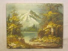 "beautiful vintage painting original art signed 8"" x 10"" nature  mountain Whitman"