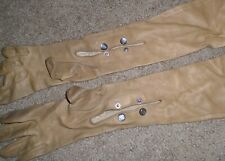 Vintage 1940's Brown leather Long Gloves 18in