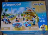 BOXED Playmobil 9061 Aquarium Shop Play Set NEW SEALED Sealife Sea-world NICE!