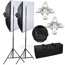 Photo Studio Softbox 2250W 5 Head Soft Box Continuous Lighting Light Stand Kit