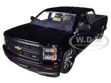 2014 CHEVROLET SILVERADO CUSTOM EDITION BLACK 1/24 DIECAST MODEL CAR JADA 97026