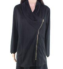 Size Medium M Full-Zip $50- #534 Designer Brand Women's Jacket Black Gold