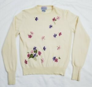 Bullocks Wilshire By Ballantyne  Cashmere Pullover Made In Scotland Woman Sm Vgt