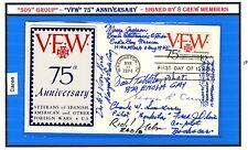 509th Enola Gay Hiroshima & Bock's Car Nagasaki POSTAL COVER by 8 CREWMEN 10