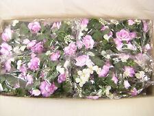 8x Wholesale Job Lot Artificial Flowers Lilac Rose Cream Hydrangea Garlands
