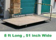 Heavy Duty 8ft Warehouse Commercial Rolling Wooden Cart 51 inch wide/ 8 ft long