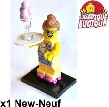 Lego - Figurine Minifig Minifigurine série 11 Diner Waitress serveuse glace NEUF