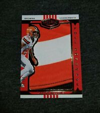 2019 Plates & Patches GREEDY WILLIAMS RC FULL COVERAGE PATCH 31/50 BROWNS