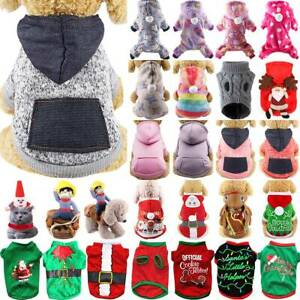 Pet Cat Dog Hooded Coat Puppy Clothes Jumper Warm Thick Apparel Outfit Casual