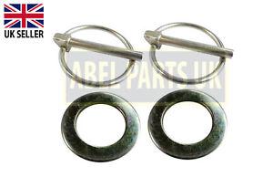 JCB PARTS - 3CX BUCKET PIN WASHERS & LYNCH PINS (PART NO.823/00470, 826/00512)