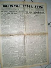CORRIERE DELLA SERA 11/8/1907 trionfale ingresso di BORGHESE e BARZINI a PARIGI