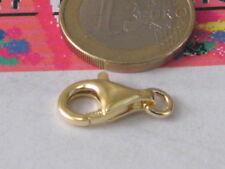 1 moschettone grande in argento 925 placcato oro giallo di 18x10 mm made italy