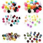 Mixed 12pairs Enamel Resin Letter Heart Flower Rose Ear Stud Earring Display Pad