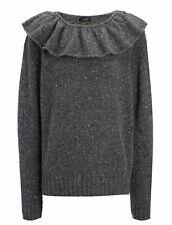JOSEPH BNWT Grey Soft Wool Jumper M Fits L Uk 12 14