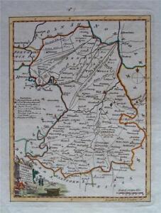 CAMBRIDGESHIRE - Fine Original Hand-Coloured Antique Map by Thomas Kitchin c1780