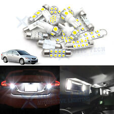 10x White LED Interior Package Reverse License Light Kit For Acura TSX 2004-2008