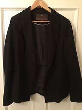 Fenn Wright Manson Black Wool Jacket Size 16 New