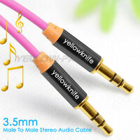 6Ft Male to Male 3.5mm Gold Plated Tangle-Free Auxiliary Audio Stereo Cable Cord