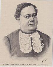1888  --  LAZARE ISIDORE GRAND RABIN DE FRANCE DECEDE A MONTMORENCY   3J337