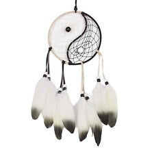 Taiji Dream Catcher Circular Net With Feathers Wall Hanging Ornament Decor HOME