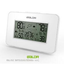 Baldr LCD Weather Station Alarm Clock Indoor / Outdoor Humidity Temp Backlight
