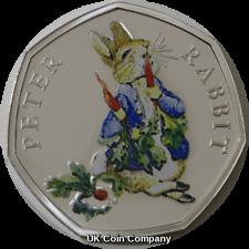 2018 Peter Rabbit Silver Proof 50p Coin Beatrix Potter Series