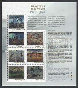2020 Group of Seven Souvenir Sheet of 7 stamps First Day Cancel