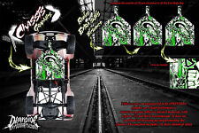 LOSI BAJA REY & ROCK REY 'GEAR HEAD' CHASSIS WRAP DECAL KIT HOP UP PARTS GREEN